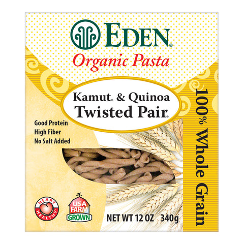 Kosher Eden Foods Organic Whole Grain Kamut and Quinoa Twisted Pair