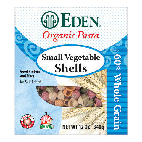 Kosher Eden Foods Organic 60% Whole Grain Small Vegetable Shells