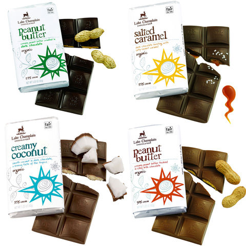 Lake Champlain Filled Organic Chocolate Bars