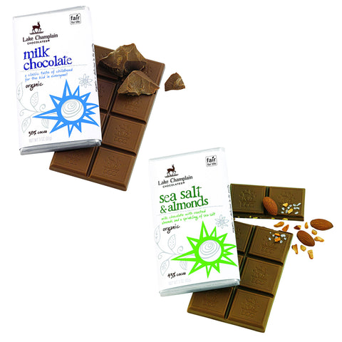 Lake Champlain Organic Milk Chocolate Bars