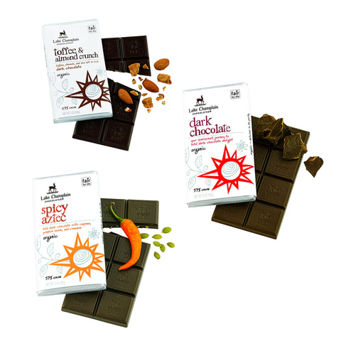 Lake Champlain Organic Dark Chocolate Lovers Bars
