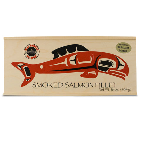 Portlock Wild Smoked Salmon in Wood Art Box
