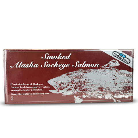 Silver Lining Smoked Alaska Sockeye Salmon in 4 oz Portions