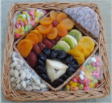 Dried Fruit, Nuts & Candy Platter with Tarts