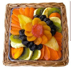 Square Flower Dried Fruit Gift Platter