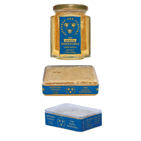 Kosher Savannah Bee Raw Acacia Honeycomb