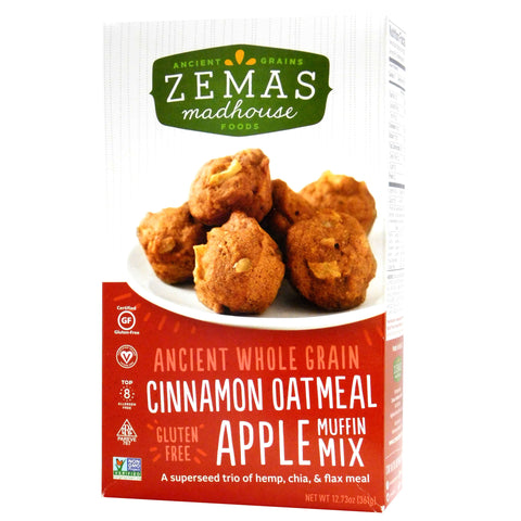 Kosher Zemas Cinnamon Oatmeal Apple Muffin Mix