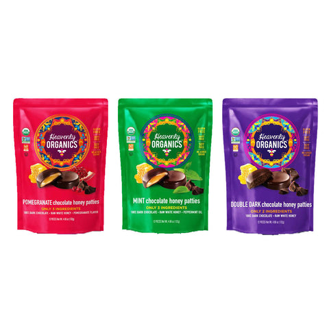 Heavenly Organics Honey Patties- 12 per Bag