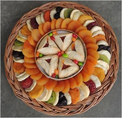 Dried Fruit, Tart, and Jelly Beans Fancy Platter