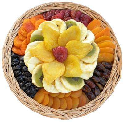 Large Premium Dried Flower Fruit Gift Platter