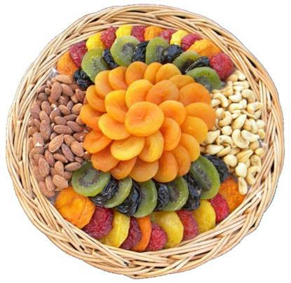 Large Premium Dried Fruit & Nut Gift Platter