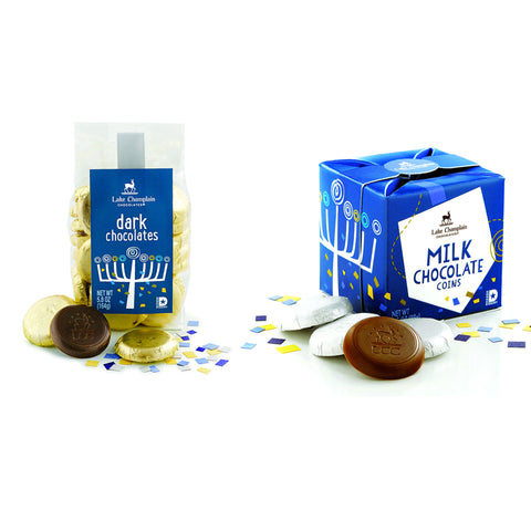 Lake Champlain Chocolate Chanukkah Chocolate Coins Gift