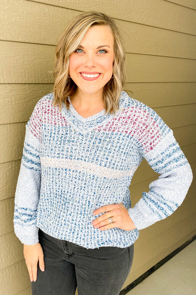 Cotton Candy Textured Sweater