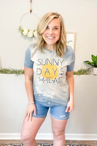 Sunny Days Ahead Bleached Graphic Tee