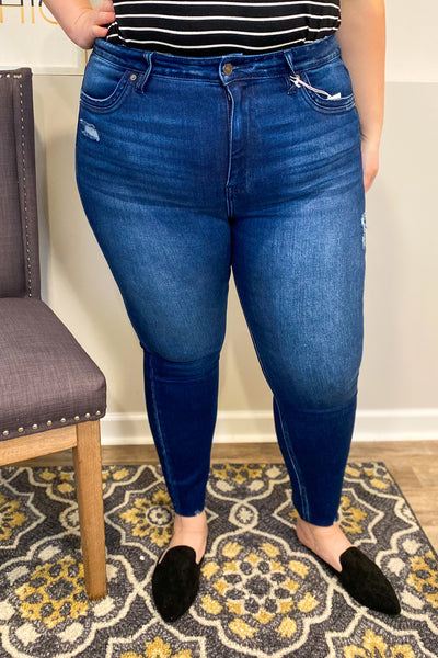 Kan Can High Rise Ankle Skinny- Curvy Exclusive
