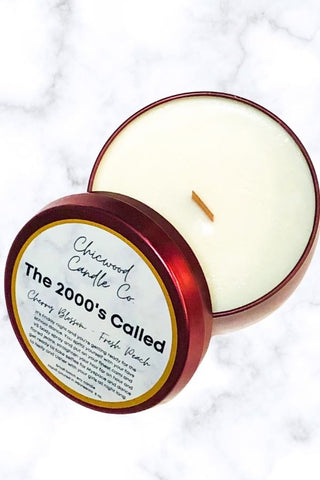 The 2000's Called- Chicwood 8oz candle Tin