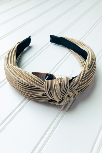 Pleated Sateen Knot Head Band- 4 Colors! - Chic Avenue Boutique