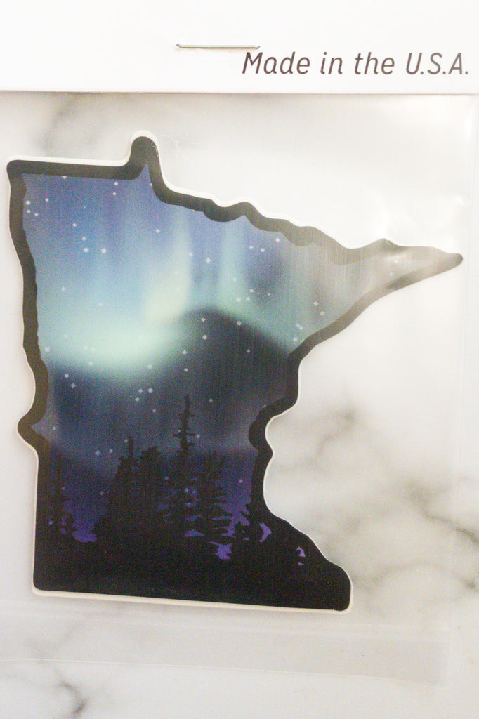 MN Northern Lights Sticker - Chic Avenue Boutique