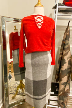 Prepped And Ready Pencil Skirt
