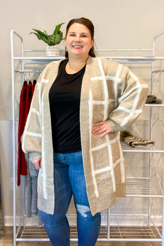 Check You Out Duster Cardigan - Curvy Exclusive