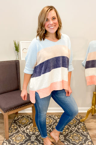 Living Life Cozy Colorblock Sweater