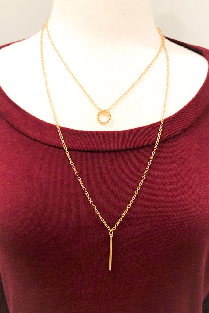 Goldie Double Layered Necklace