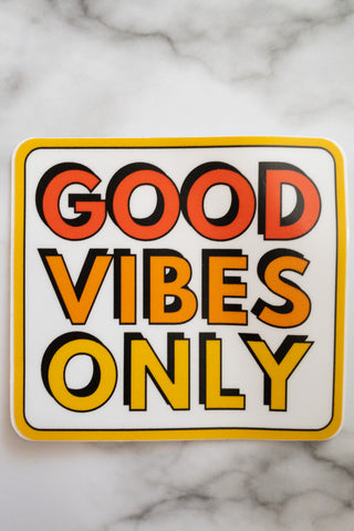 Good Vibes Only Sticker - Chic Avenue Boutique