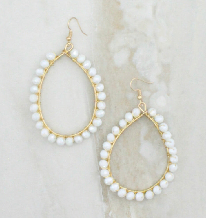 Pearl Tear Drop Earrings