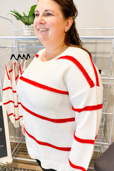 Candy Cane Lane Sweater
