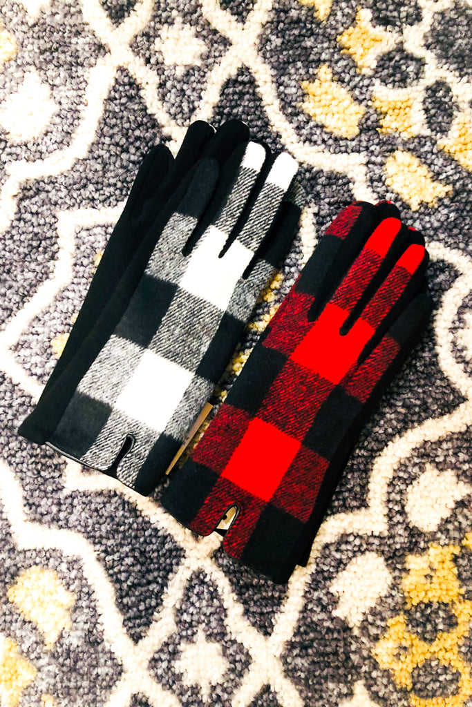 Buffalo Plaid Driving Gloves- 2 Colors!