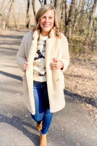 Winter Chic Sherpa Jacket