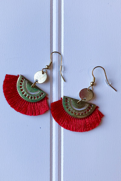 Fringe Fans Earrings