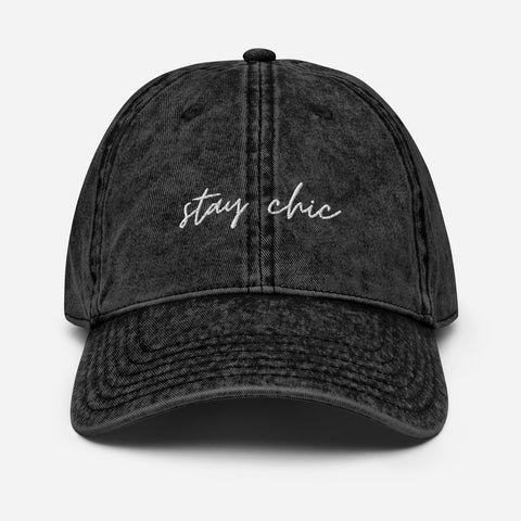 Stay Chic Vintage Cotton Twill Cap
