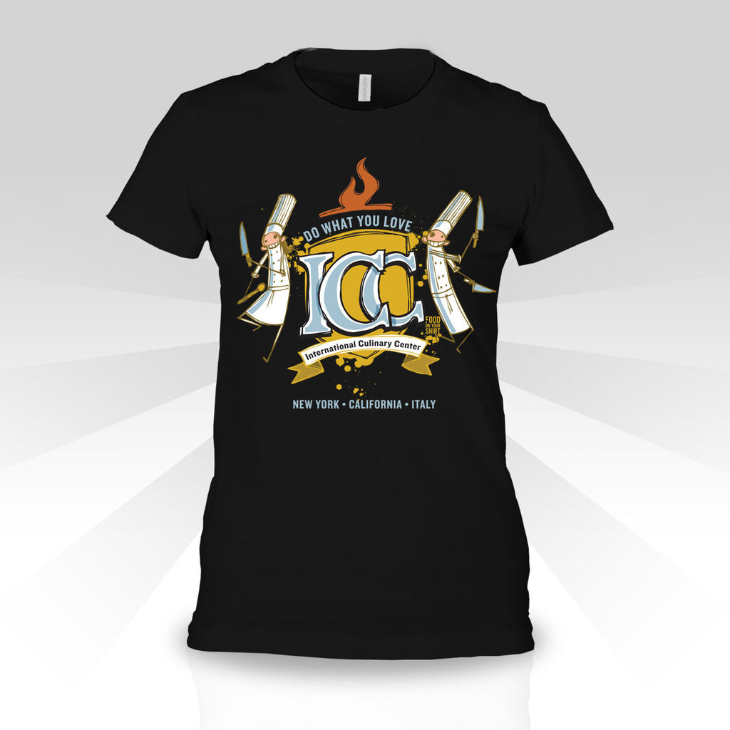 Short Sleeve Womens T - Design by ICC Culinary Arts graduate Pierre Lamielle.