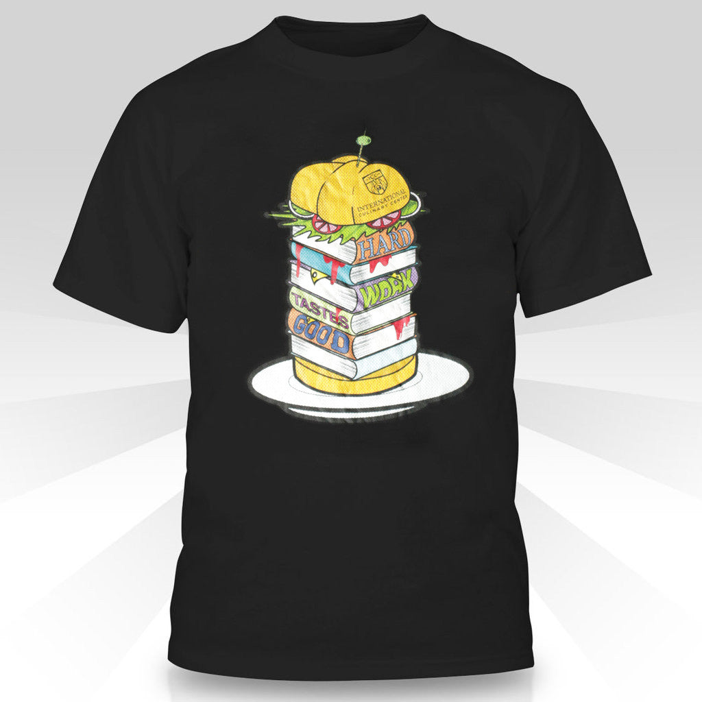 T-shirt with Burger Design