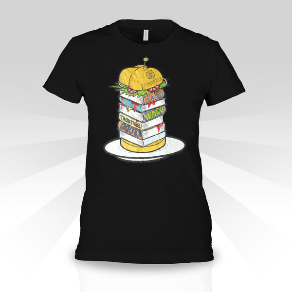 Women's T-shirt with Burger Design