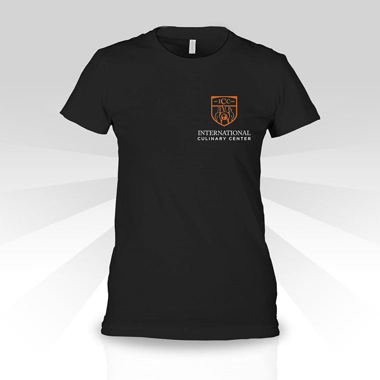 Womens T-shirt with ICC Logo On Left Chest