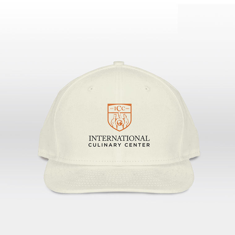 Embroidered ICC Logo on 5-Panel Hat in Natural
