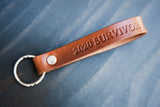 Personalized Keychain Leather, COVID 19 survivor