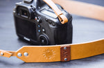 "1.5"" Wide Leather Camera Strap, Handmade personalized gift Celestial"