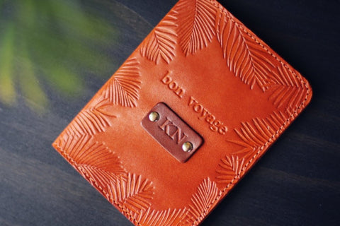 Passport Cover, Palm leaves frame