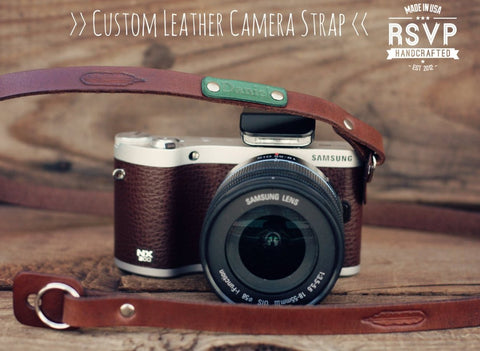 Custom Thin Camera  Strap, Feather