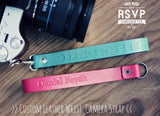 Custom Leather Camera Strap, Wrist Strap