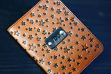 Custom Leather Passport Cover, Star pattern