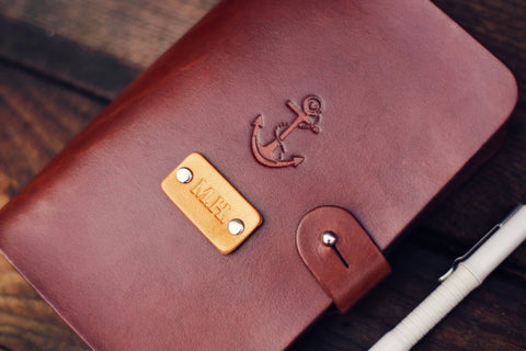 Custom Leather Journal, Anchor