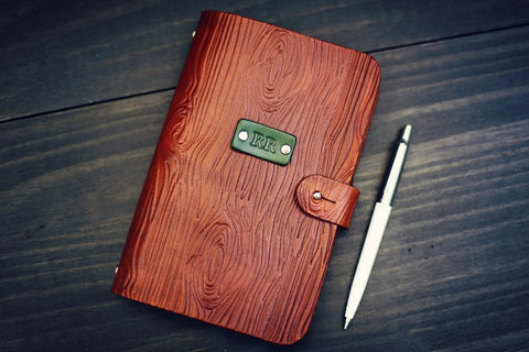 Leather Journal, Woodgrain pattern