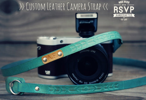 Custom Thin Camera  Strap, Tribal