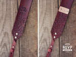 Custom Leather Camera Strap, Branches