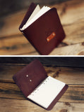 Custom Leather Journal, Crossed Arrows