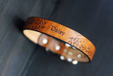 "Copy of Copy of Personalized Leather Dog Collar, 1"" Floral"